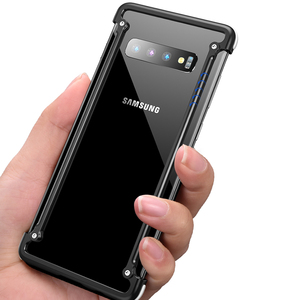 Image 3 - Oatsbasf Luxury Metal Case For Samsung Galaxy S10 S10 Plus S10e Personality for Metal Bumper Cover shockproof  Case