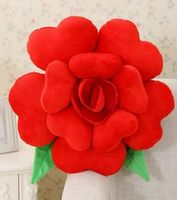 Großhandel, freies verschiffen, 1 teile/los Festival Geschenk, romantische Valentinstag geschenk, Rose blume Rückenkissen kissen 30-60 cm