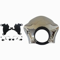 Memphis Shades Chrome Gauntlet Fairing W Trigger Lock Mount Kit For 1986 2014 Harley Sportster 06