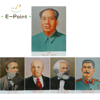 5 PCS Great Man of the World Mao Marx Lenin Stalin Engels Oil Painting Print on Cotton Canvas Painting Abstract Wall Art muñeco buffon