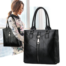 Европейский стиль натуральная кожа женская сумка осень зима молния большая емкость сумки через плечо для женщин