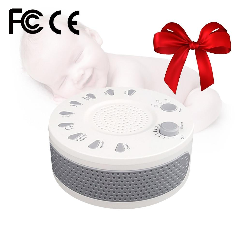 цена Baby White Noise Sound Machine For Sleeping Premium Noise Canceling Portable Device Help Baby Sleeping Comfortable
