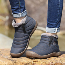 New arrival  winter plus velvet  boots men's cotton boots snow boots plus velvet warm cotton shoes flat slip-on shoes