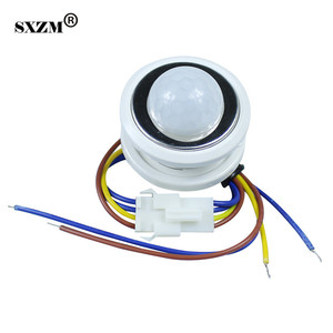40mm PIR Infrared Ray Motion Sensor Switch Time delay adjustable mode detector switching For Home Lighting LED Lamp(China)