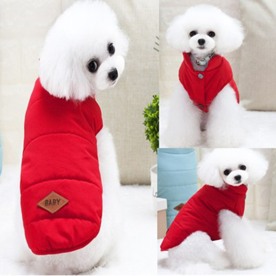 Warm Dog Coats Jackets Winter For Small Dogs French Bulldog Chihuahua Yorkshire Dog Costume Christmas Hondenjas Pet Clothes 5JK2 in Dog Coats Jackets from Home Garden