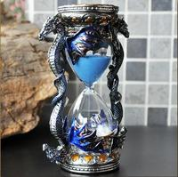 Luxury metal creative hourglass timer liquid sablier 30 minute liquid clock sand in glass for home decoration A33
