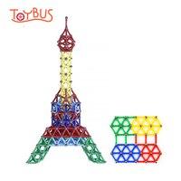 Toybus Magnet Bar Metal Balls DIY Toys Magnetic Building Blocks Construction Toys Accessories DIY Designer Educational