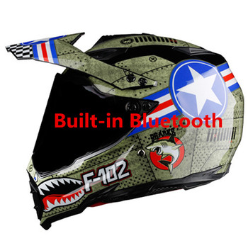 ¡Oferta! Cascos todoterreno bluetooth casco de carrera de montaña de descenso casco de moto de cara completa casco de casco