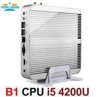 Безвентиляторный блок i5 мини ПК Win10 3 летами гарантированности компьютер NUC Intel Core i5 4200U 4 K HTPC tv КОРПУС DHL Бесплатная доставка