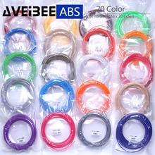 Original Model 3d pen plastic ABS filament 1.75mm 200 Meter 20 Colors 3D Printer Filament Materials For 3 D drawing Pens