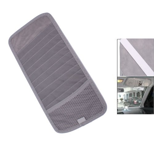 TOYL Grey Car Sun Visor 12 Disc CD DVD Card Case Wallet Storage Holder Organizer