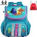 Вэньцзе брат ортопедические хорошее качество рыбы creative мешок школы водонепроницаемый рюкзак школьный дети рюкзак для мальчиков и девочек