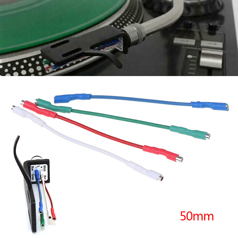 4Pcs 50mm 5N Pure Sliver Leads Header Wire Cable  Universal For 1.2-1.3mm Pins Turntable Phono Headshell