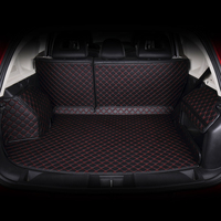 dedicated Full surround car trunk mats with backres pads and side carpets for Cruze IX35 XRV great wall Haval H6 in pu leather