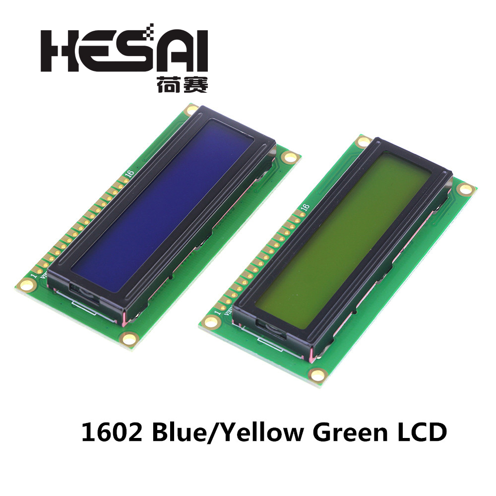 Smart Electronics LCD1602 LCD Monitor 1602 5V Blue/Yellow Green Screen And White Code For Arduino Diy Kit