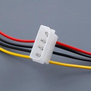 Image 3 - מחשב כבל 4/15 פין IDE כוח ספליטר 1 זכר 2 נקבה IDE/SATA כוח כבל Y ספליטר קשה כונן אספקת חשמל כבל