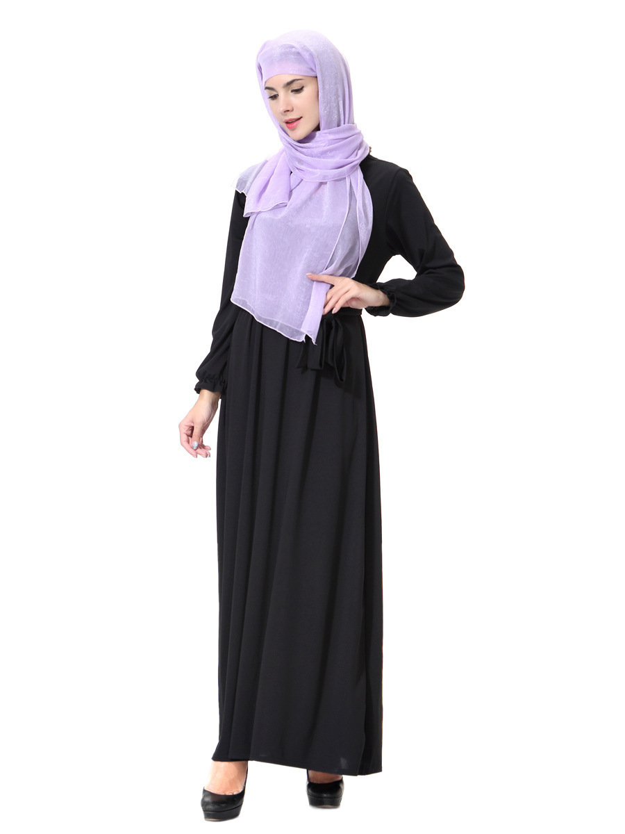 Islamic Muslim Ladies Thobe Malaysia Long Sleeve Abaya Muslim Women's Abaya