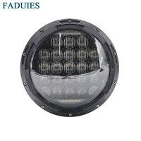 Vender Faduys 7 pulgadas redondo negro 105 W 5D motocicleta LED faro para motocicleta 7 LED faro