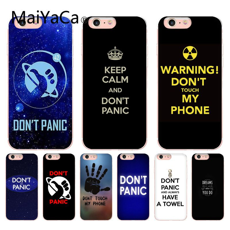MaiYaCa HitchhikerS Guide To The Galaxy DonT Panic High-end Case For iphone 8 8plus 7 7plus 6 6plus 5 5s 5c SE Mobile cover