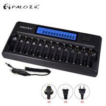 Chargeur de batterie daffichage rapide à cristaux liquides intelligent PALO 12 fentes pour piles rechargeables AA AAA NI MH NI CD avec chargeur de voiture