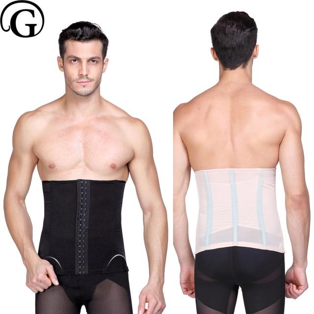 0e80f597550 PRAYGER Men Control Abdomen Body Shaper Girdle Slimming Belly Waist Cincher  Tummy Trimmer Shaper Wrap