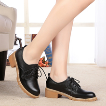Women's shoes, women's singles shoes 2016 Spring new Genuine leather with full leather in deep mouth casual shoes slip