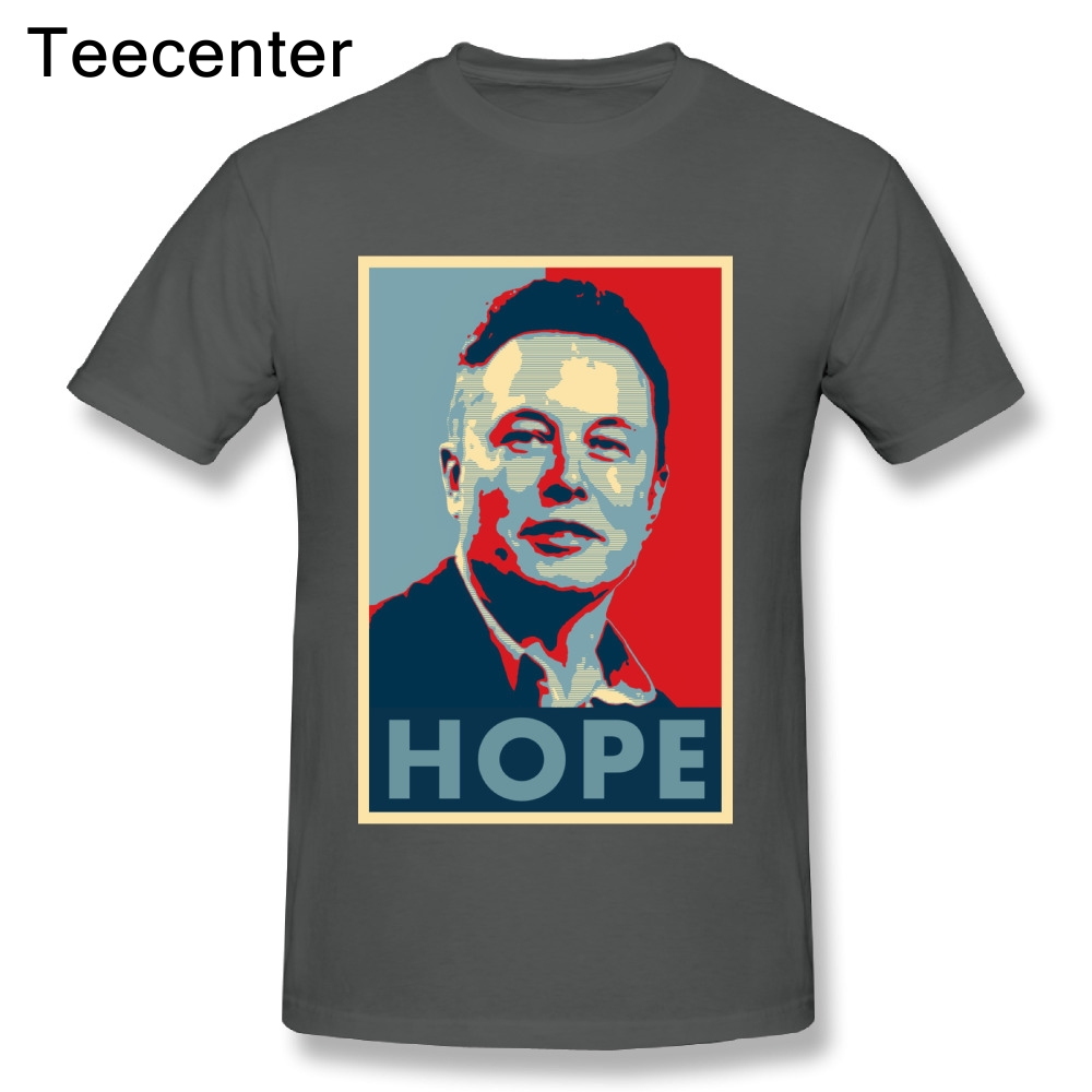 Elon Musk Hope T-Shirts Popular Men Round Neck Design Tee Shirts Nice T shirt Cool Tee Space t shirt