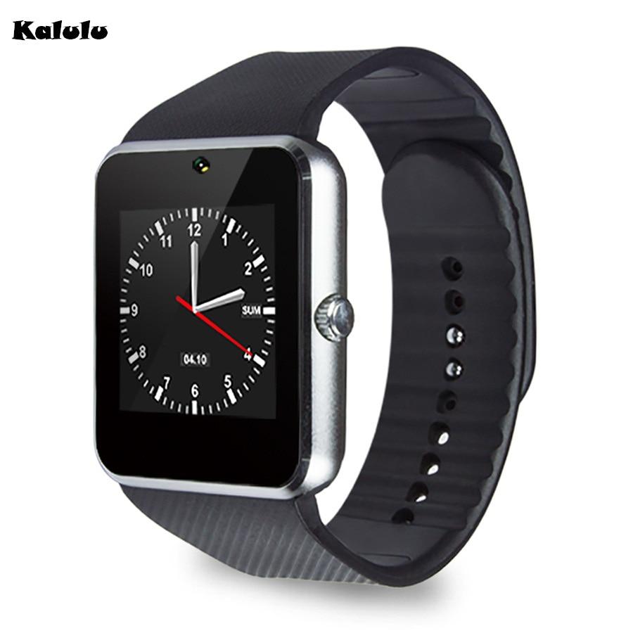 imágenes para Popular GT08 Notificador con Sim Bluetooth reloj elegante Reloj de Sincronización PK huawei Samsung Android Teléfono Smartwatch para Apple IOS DZ09 A1