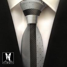 2015 NEW design Patchwork tie novelty slim necktie red with black stripe & dots цена