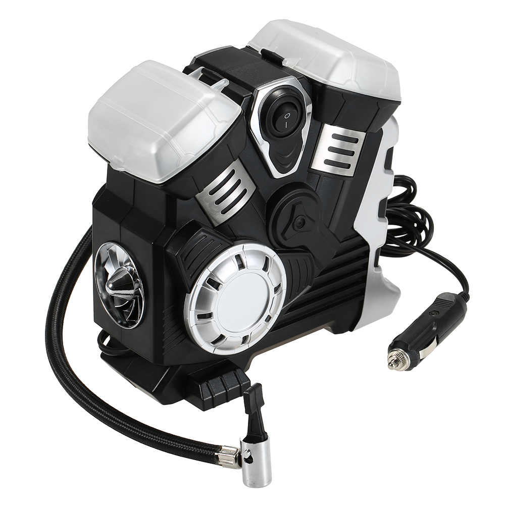 Auto Car Air Compressor DC 12V Portable Pump Tire Inflator with LED Digital Display up to 150PSI for Car Bicycle SUV Boat