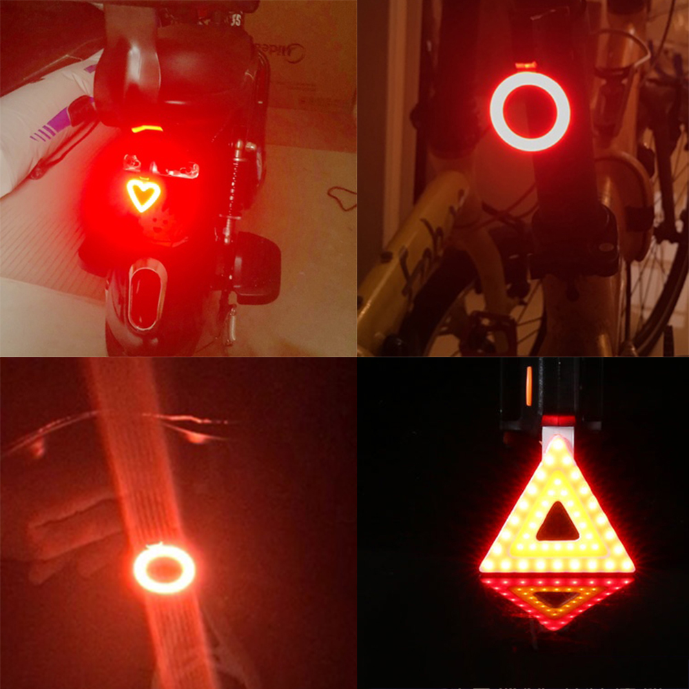 Multi Lighting Modes, Bicycle Light, USB Charge Led Bike Light Flash Tail Rear 3