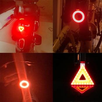 Multi Lighting Modes, Bicycle Light, USB Charge Led Bike Light Flash Tail Rear 8