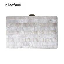 2017 woman's evening Clutch new unique Marble Striped Shoulder Bag elegant wallet Fashion Chain Acrylic bolsa feminina handBag