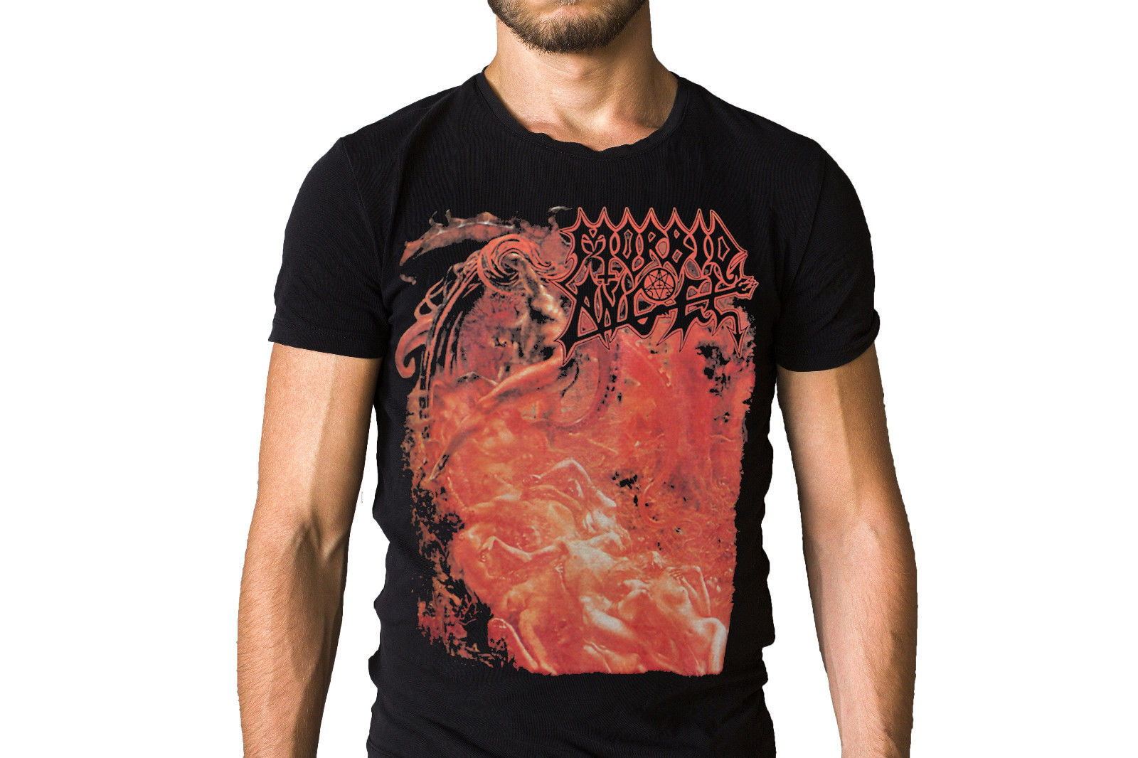 Morbid Angel Band Blessed Are The Sick 1991 Album Cover T-Shirt