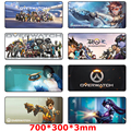 Overwatch gaming mouse pad 700*300*3mm large size Locking Edge Mouse mat keyboard pad for desktop and laptop computer