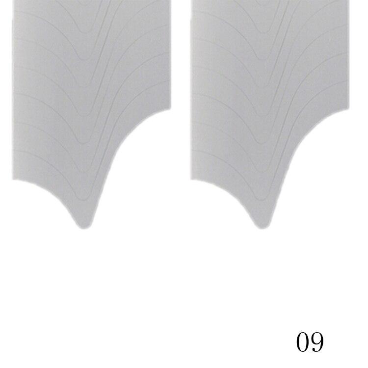 New Fashion 48PCS/Lot Nail Sticker DIY French Manicure Nail Art Decorations Round Form Fringe Guides Nail Sticker 15