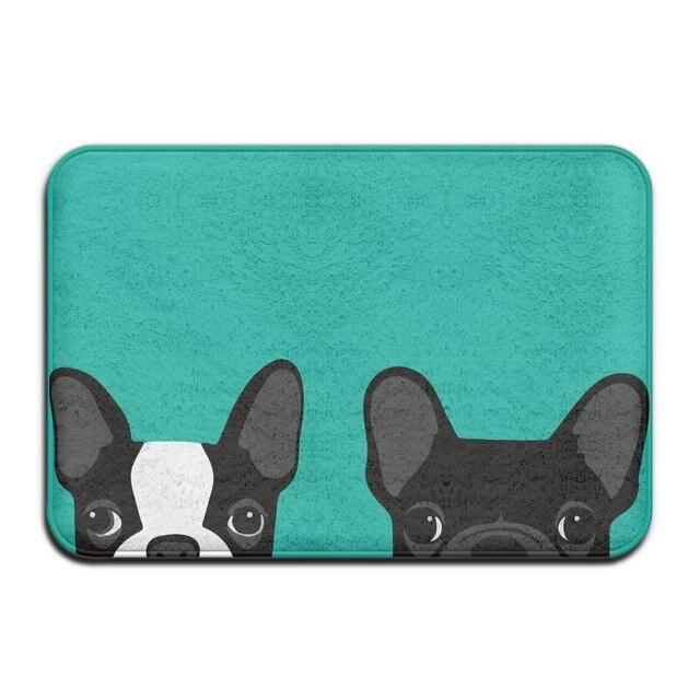 Superieur DIYABCD Boston Terrier And French Bulldog Doormats Anti Slip House Garden  Gate Carpet Door Mat Floor Pads