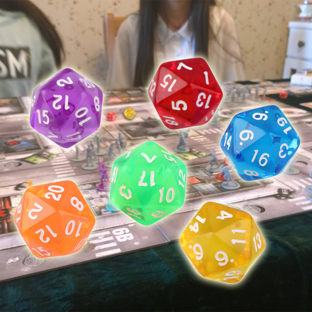 6pcs Creative Universe Galaxy Dice Set D20 Multi Sided Acrylic Dice Resin For Game Dungeons Dragons Polyhedral Dice #3n12