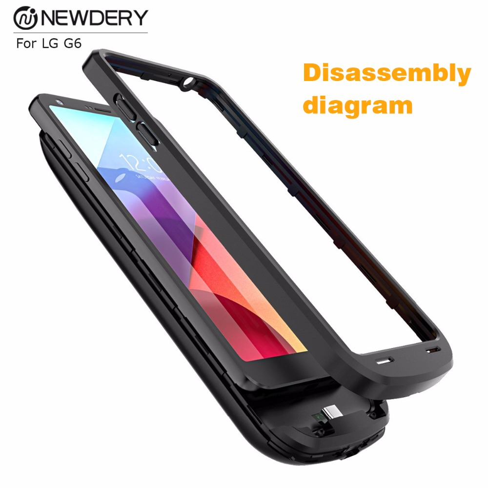 Newdery exclusive dealing portable battery charger 5000mAh ultra thin battery backup charger case cover for LG G6 G6+ Зарядное устройство