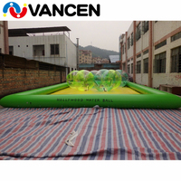8*6m floating inflatable swimming pool simple installation PVC inflatable pool for water toys