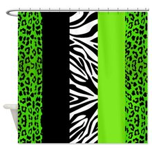 CHARM HOME Lime Green Animal Print Stripes Zebra Leopard