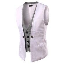Лоскутный классический поддельный два жилета жилет Мужской винтажный приталенный костюм жилет Повседневный жилет костюм деловой свадебный жилет d90628