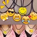 Южная Корея мягкий Мэн Harajuku мультфильм желтый смайлик Воротник колье Ожерелье emoji лица ожерелье NK0213