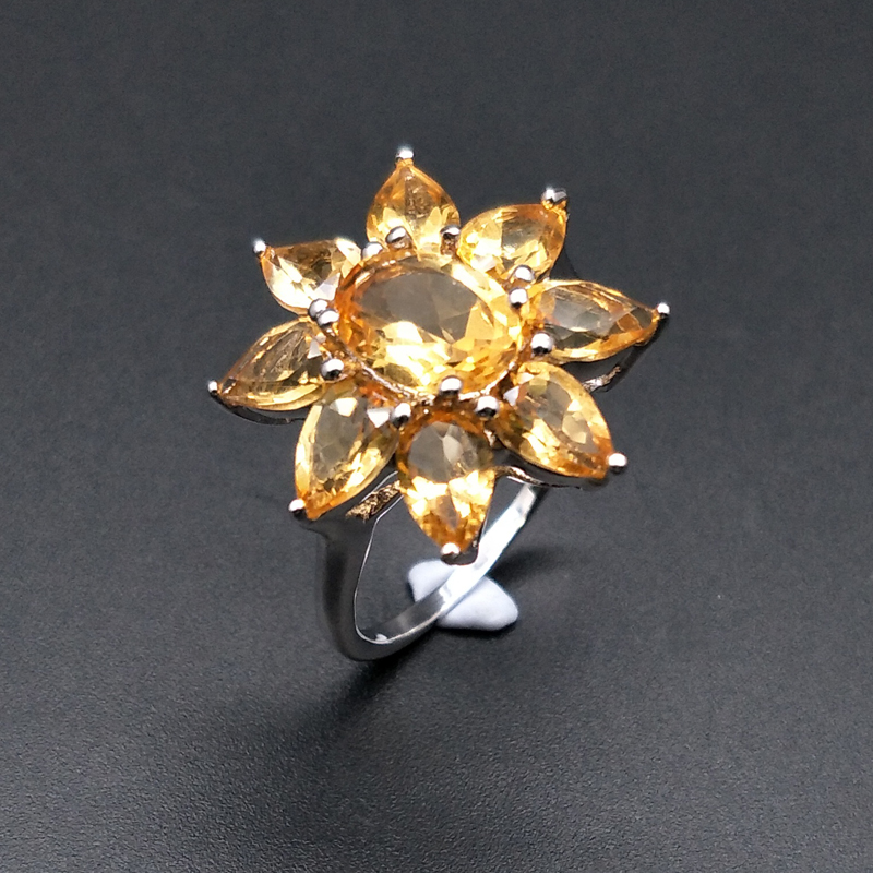 TBJ,good color Citrine Rings natural gemstone with 925 sterling silver simple style fine jewelry for women daily wear