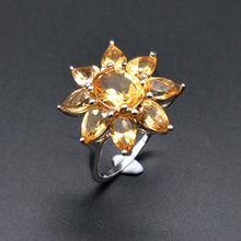 TBJ,good color Citrine Rings natural gemstone with 925 sterling silver simple style fine jewelry for women daily wear tbj natural ruby gemstone simple
