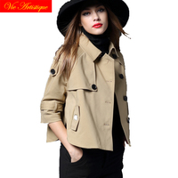 2018 Rushed Real Trench Coat Casaco Feminino Gothic Coat Duster Trench Mujer Winter Women's Women Plus Size Bat Type Female