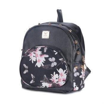 9340P Women Backpack Three Casual Printing School Bag Female Canvas Backpacks for Teenage Girls Travel Bags