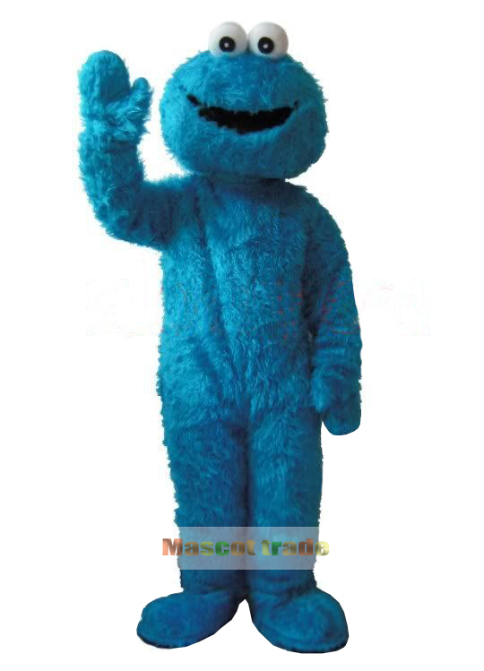 Adults Blue Cookie Monster And Elmo Mascot Costume Sales High Auality Long Fur Elmo Mascot Costume