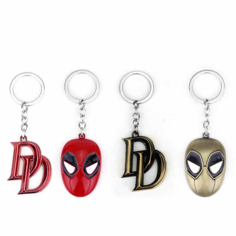 Симпатичные мстители супергерой Сорвиголова Double D и маска кулон брелок Высокое качество подарок для Вентиляторы фильм ювелирные изделия Бе...