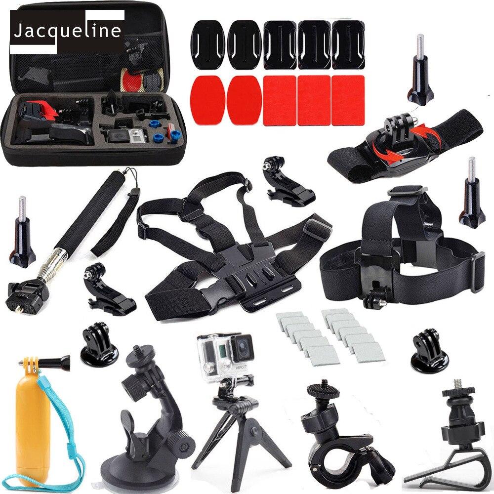 Accessories For Go pro Outdoor Sports Kit Travel Bag Head Chest Bike Monopod Tripod Mount for Go Pro Hero 5 4 GOPRO hero 3+ 3 2 korg ka 199